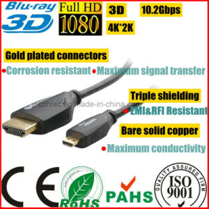 Micro HDMI Male D to HDMI Male a Cable pictures & photos