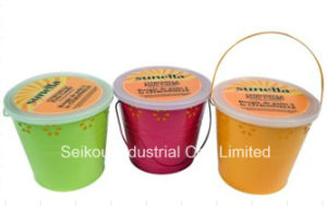 Color Painted Citronella Bucket Candle with Handle (SK8076)