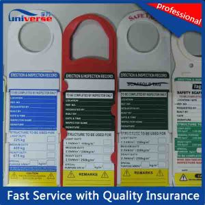 ABS Plastic Ladder Tag / Scaffolding Tag pictures & photos
