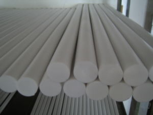 100% Virgin White PTFE Rod