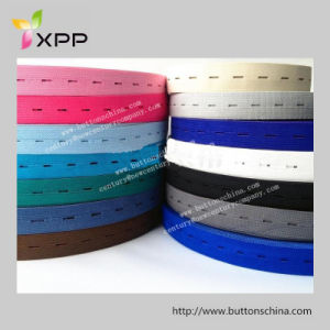 Elastic Tape with Button Hole for Garment pictures & photos