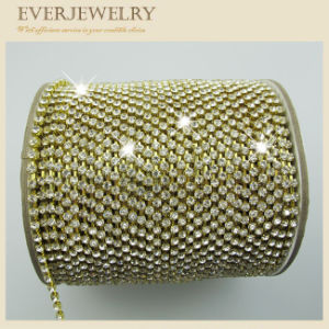 High Quality Ss16 Crystal Rhinestone Cup Chain in Roll for Dress, Shoes, Necklace, Bracelet pictures & photos