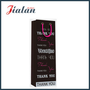 Matte Laminated Coated Paper Promotional Wine Bottle Shopping Gift Bag pictures & photos