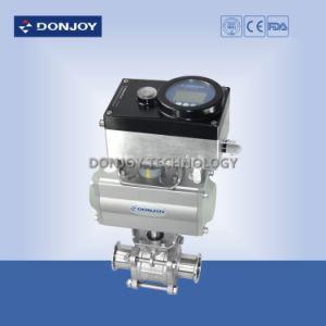 Horizontal Pneumatic Actuator Pneumatic 3PCS Ball Valve pictures & photos