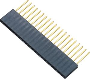 2.54 Mm H = 3.5 Mm Insert Single Row 4 P 180 DIP Female Header pictures & photos