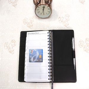 Hot Sale Spiral Binding PU Leather Soft Cover Wire-O Notebook pictures & photos