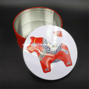 Round Metal Tin Gift Food Packaging Box (R001-V1) pictures & photos