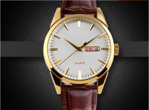 Newest Mold Customised Design Leather Men Watch pictures & photos