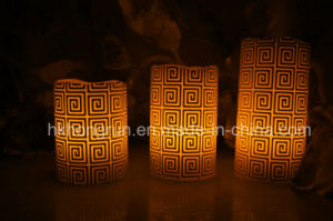 Real Wax LED Candle in Melt Edge (HR98)