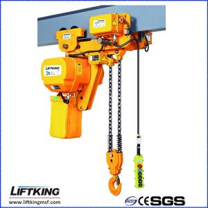 Ce Approved 2.5t Ultra Low Headroom Electric Chain Hoist for Crane pictures & photos