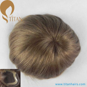 2017 Ultra Thin Poly Skin Human Hair Toupee with Factory Price pictures & photos