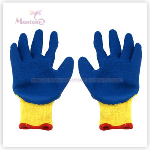 10g Crinkle Latex Palm Coated Polyester Safety Working Garden Gloves pictures & photos