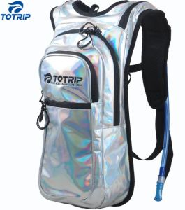 PU Leather Holographic Hydration Pack