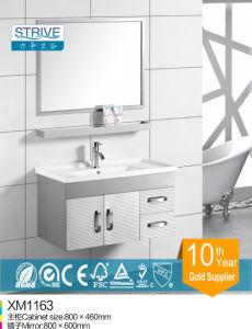 Stainless Steel Floor Mount Ceramic Top Single Sink Bathroom Vanities pictures & photos