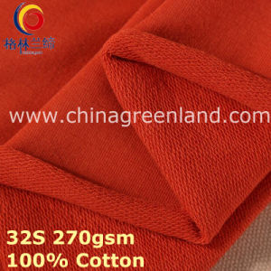 100% Cotton Knitted Fleece Fabric for Textile Clothes (GLLML385) pictures & photos