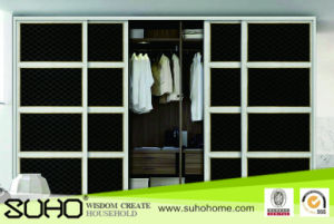 2015 Latest Design PVC Wardrobe Sliding Door