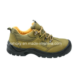 Casual Sports Style Nubuck Leather Safety Shoes (HQ03051) pictures & photos