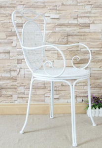 Handmade Indoor and Outdoor Wrought Iron Chair pictures & photos