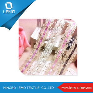 Cotton Lace with Colorful Ribbon pictures & photos