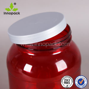 3liter Round Pet Plastic Bottle Protein Powder Food Container with Scoop pictures & photos