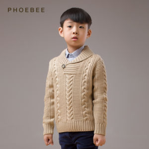 100% Wool Knitting/Knitted Children Garment Boys Winter Coat pictures & photos