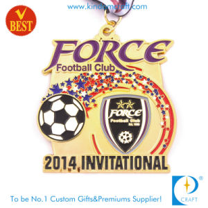 Custom OEM Wholesale Soccer /Football Metal Invitational Gold Award Medal pictures & photos