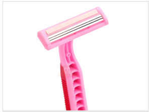 Hot Selling Good Quality Triple Blade Stainless Steel Disposable Razor (JG-GK 9004) pictures & photos