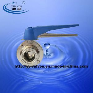 Triclover Butterly Valve Sanitary (304/316L) pictures & photos