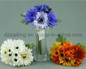 Decorative Wedding Artificial Flower Bouquet of Gerbera and Daisy Combination (SF12548A/5)