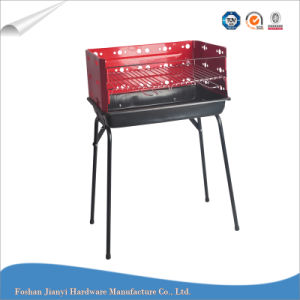 Outdoor Red Color Simple Charcoal Barbecue Grill