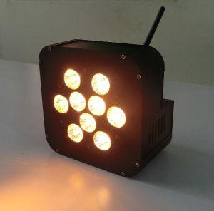 Flat Slim 9PCS Rgbawuv LED PAR Light Battery Powered Wireless pictures & photos