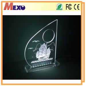 3D Crystal Laser Engraving Gifts Acrylic LED Sign pictures & photos