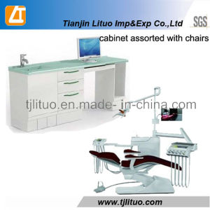 Good Quality Metal Steel Corner Type Dental Cabinet pictures & photos