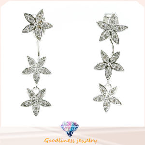Good Quality &Star Pattern Design Fashion Jewelry China Whole Jewelry 3A CZ 925 Silver Jewelry Earring (E6522) pictures & photos