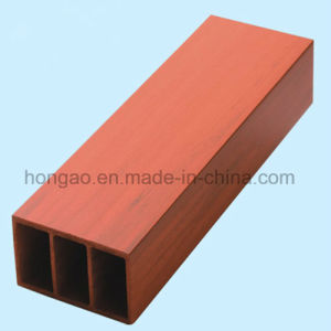 Waterproof and Inflaming Retarding 100*50mm Square Tube Wood Plastic Composite