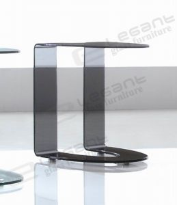 Creative Grey Glass Side Table in Guest Room pictures & photos