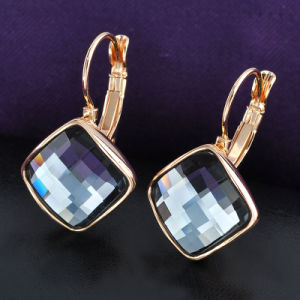 Hook Back Grey Square Crystal Trendy Women Jewelry Earring pictures & photos