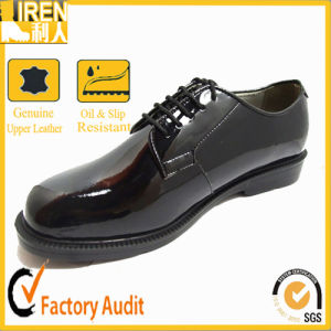 2017 Factory Price High Quality Black Military Police & Office Shoes pictures & photos