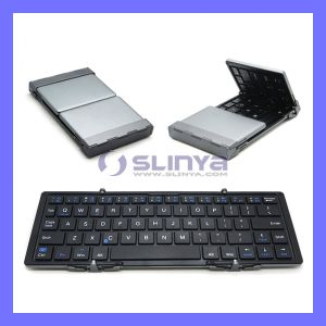 Universial Mini Portable Slim Folding Auminum Wireless Foldable Bluetooth Keyboard for Ios Andriod Windows PC Tablets pictures & photos