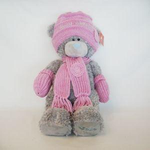 Plush Wool Hat Pink Bear pictures & photos