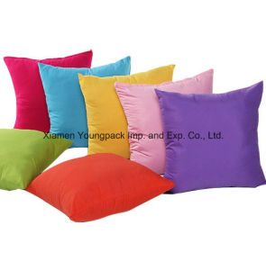 Promotional Plain Simple Design Solid Candy Color Polyester Cotton Seat Sofa Decorative Square Zipper Throw Cushion Cover pictures & photos