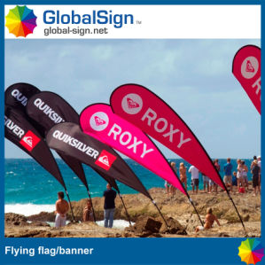 Outdoor Advertising Teardrop Shape Beach Banner pictures & photos