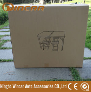 Fire-Proof Plate Folding Camping Table with 4 Chairs pictures & photos