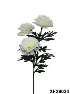 Artificial/Plastic/Silk Flower Single Stem of Carnation with 3 Branches (XF29024) pictures & photos