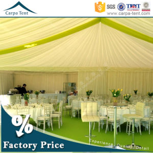 20mx30m Beautiful and Luxury White Canvas Large Wedding Party Tents with Silk Tent Linings in Guangzhou pictures & photos