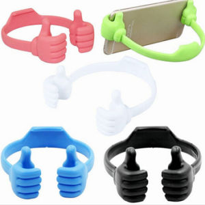 Newest Lovely Thumbs Good Gesture Promotional Gift Silicone Phone Stand pictures & photos