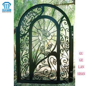 High Quality Crafted Wrought Single Iron Gate 027 pictures & photos