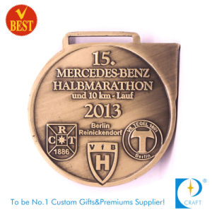 Custom Copper 10km Half Marathon Souvenir Running Medal pictures & photos