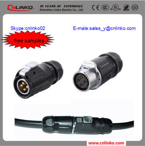 Polar Conector/XLR Panel Connector/Male to Male Plug Cable Connector pictures & photos
