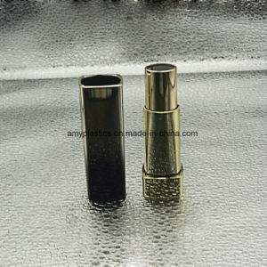Round Plastic Black/Gold Empty Lipstick Tubes Cosmetics Packaging pictures & photos